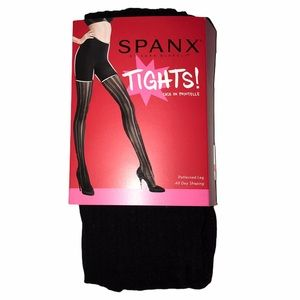 SPANX Assets Mama Stripe Tights - Black - Size 1